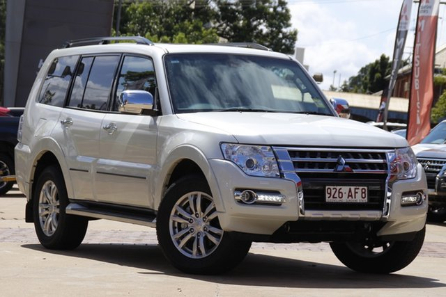 Demo Mitsubishi Pajero NX MY21 Exceed Toowoomba, 2020 Mitsubishi Pajero NX MY21 Exceed Warm White 5 Speed Sports Automatic Wagon