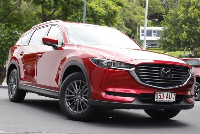 Demo Mazda CX-8 KG2WLA Sport SKYACTIV-Drive FWD Newstead, 2020 Mazda CX-8 KG2WLA Sport SKYACTIV-Drive FWD Soul Red Crystal 6 Speed Sports Automatic Wagon