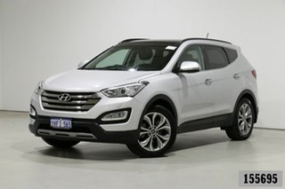 2014 Hyundai Santa Fe DM Highlander CRDi (4x4) Silver 6 Speed Automatic Wagon.