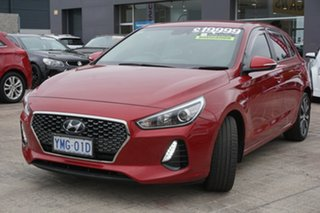 2017 Hyundai i30 PD MY18 Elite D-CT Fiery Red 7 Speed Sports Automatic Dual Clutch Hatchback