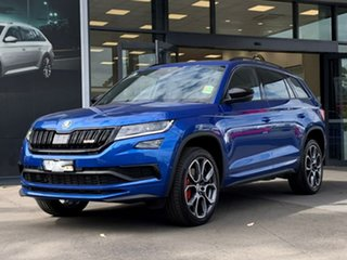 2020 Skoda Kodiaq NS MY21 RS DSG Blue 7 Speed Sports Automatic Dual Clutch Wagon.