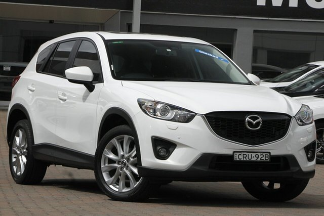 Used Mazda CX-5 KE1031 MY13 Grand Touring SKYACTIV-Drive AWD Parramatta, 2013 Mazda CX-5 KE1031 MY13 Grand Touring SKYACTIV-Drive AWD White 6 Speed Sports Automatic Wagon