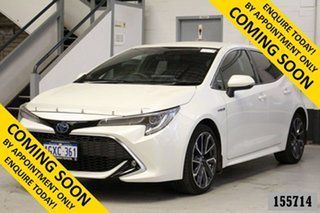 2019 Toyota Corolla ZWE211R ZR Hybrid White Continuous Variable Hatchback.