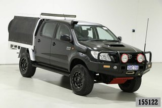 2013 Toyota Hilux KUN26R MY12 SR (4x4) Black 5 Speed Manual Dual Cab Chassis