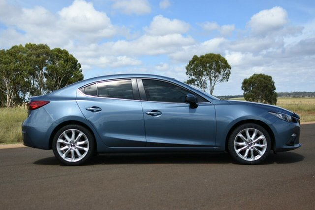 Used Mazda 3 BM MY15 SP25 Kingaroy, 2016 Mazda 3 BM MY15 SP25 Blue 6 Speed Manual Sedan