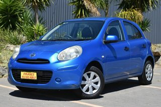 2011 Nissan Micra K13 ST Blue 4 Speed Automatic Hatchback.