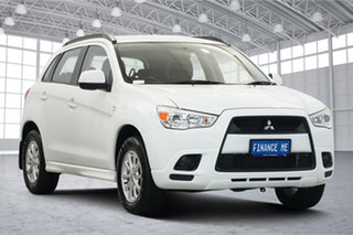 2010 Mitsubishi ASX XA MY11 Aspire White 6 Speed Constant Variable Wagon.