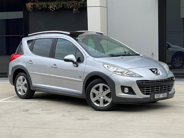 Used Peugeot 207 A7 Series II MY10 Outdoor Touring Templestowe, 2011 Peugeot 207 A7 Series II MY10 Outdoor Touring Silver 6 Speed Manual Wagon