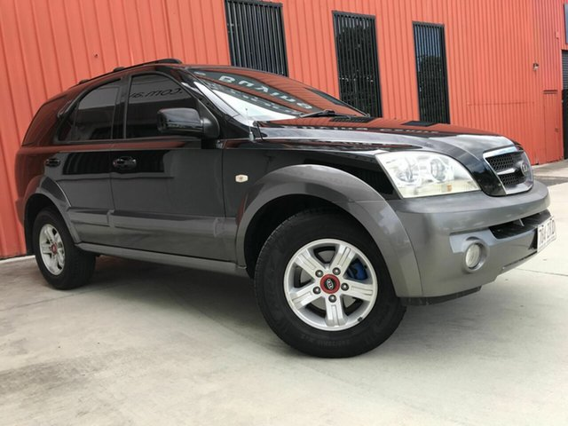 Used Kia Sorento BL MY05 EX Molendinar, 2005 Kia Sorento BL MY05 EX Black 5 Speed Sports Automatic Wagon