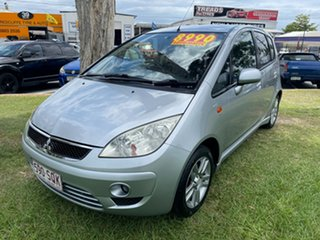 2010 Mitsubishi Colt RG MY09 VR-X Silver 1 Speed Constant Variable Hatchback.