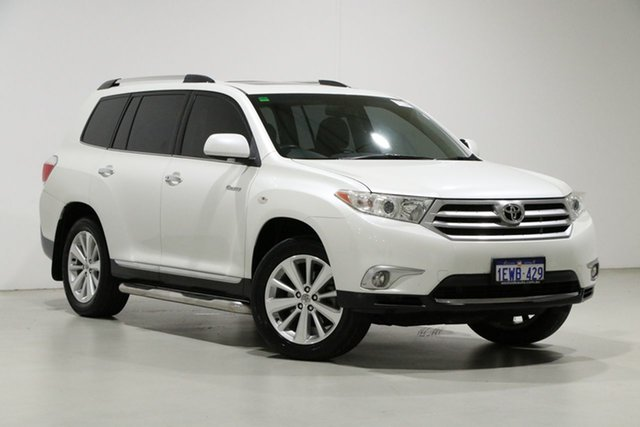 Used Toyota Kluger GSU40R MY11 Upgrade Grande (FWD) Bentley, 2011 Toyota Kluger GSU40R MY11 Upgrade Grande (FWD) White 5 Speed Automatic Wagon