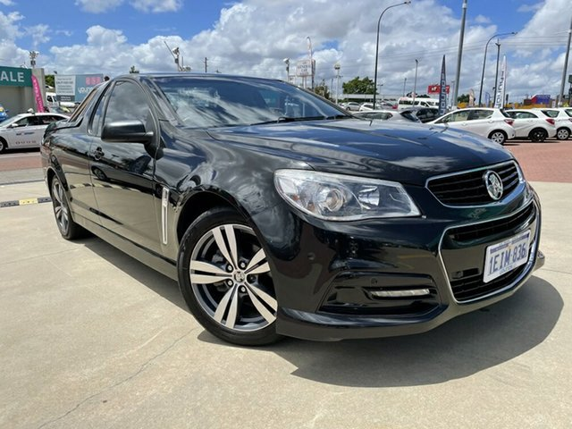 Used Holden Ute VF MY14 SV6 Ute Victoria Park, 2013 Holden Ute VF MY14 SV6 Ute Black 6 Speed Manual Utility