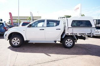 2012 Mitsubishi Triton MN MY12 GLX (4x4) White 5 Speed Manual 4x4 Double Cab Utility