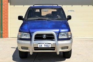 1998 Holden Jackaroo L8 SE Blue 5 Speed Manual Wagon.