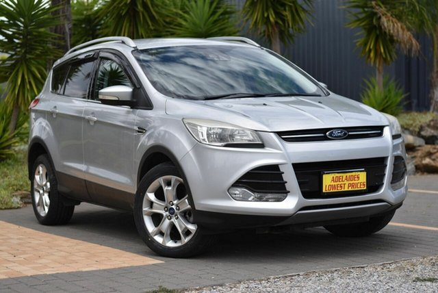 Used Ford Kuga TF Trend PwrShift AWD Morphett Vale, 2014 Ford Kuga TF Trend PwrShift AWD Silver 6 Speed Sports Automatic Dual Clutch Wagon