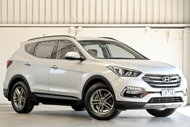 Used Hyundai Santa Fe DM3 MY17 Active Laverton North, 2016 Hyundai Santa Fe DM3 MY17 Active Silver 6 Speed Sports Automatic Wagon