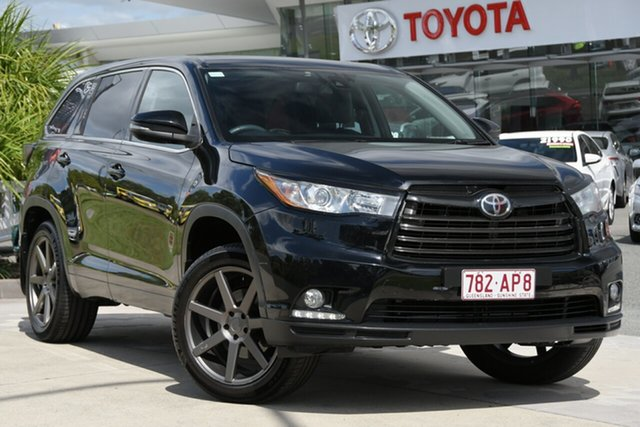 Pre-Owned Toyota Kluger GSU50R Grande 2WD North Lakes, 2016 Toyota Kluger GSU50R Grande 2WD Eclipse Black 6 Speed Sports Automatic Wagon