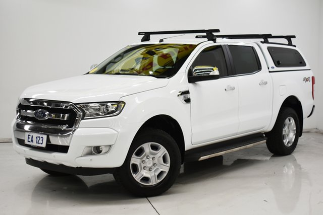 Used Ford Ranger PX MkII 2018.00MY XLT Double Cab Brooklyn, 2018 Ford Ranger PX MkII 2018.00MY XLT Double Cab White 6 Speed Sports Automatic Utility