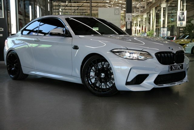 Used BMW M2 F87 LCI Competition M-DCT North Melbourne, 2019 BMW M2 F87 LCI Competition M-DCT Silver 7 Speed Sports Automatic Dual Clutch Coupe