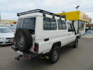 2003 Toyota Landcruiser HZJ78R (4x4) 3 Seat White 5 Speed Manual 4x4 TroopCarrier