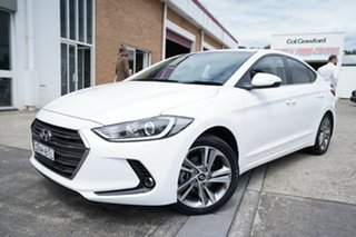 2017 Hyundai Elantra AD MY17 Elite White 6 Speed Sports Automatic Sedan.