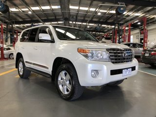 2012 Toyota Landcruiser VDJ200R MY12 Sahara (4x4) Crystal Pearl 6 Speed Automatic Wagon.