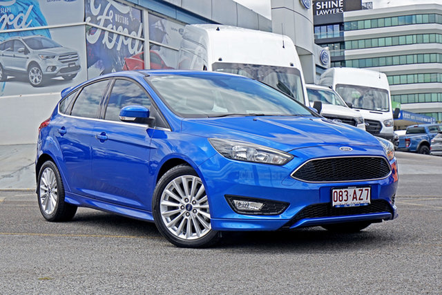 Used Ford Focus LZ Sport Springwood, 2018 Ford Focus LZ Sport Blue 6 Speed Automatic Hatchback