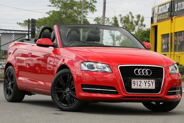 Used Audi A3 8P MY12 Attraction S Tronic Rocklea, 2011 Audi A3 8P MY12 Attraction S Tronic Brilliant Red 7 Speed Sports Automatic Dual Clutch