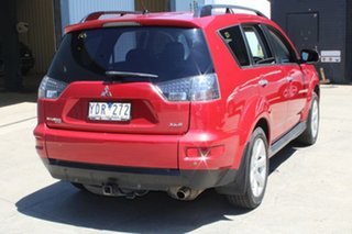 2011 Mitsubishi Outlander ZH MY11 XLS Red 6 Speed CVT Auto Sequential Wagon