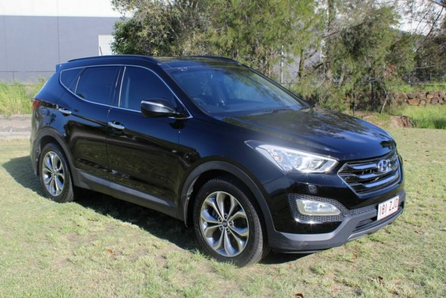 Used Hyundai Santa Fe DM MY13 Highlander Ormeau, 2012 Hyundai Santa Fe DM MY13 Highlander Black 6 Speed Sports Automatic Wagon