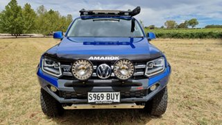 2018 Volkswagen Amarok 2H MY18 TDI550 4MOTION Perm Ultimate Ravenna Blue 8 Speed Automatic Utility.