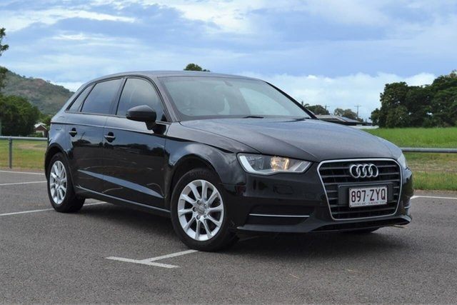 Used Audi A3 8V Attraction Sportback S Tronic Mundingburra, 2014 Audi A3 8V Attraction Sportback S Tronic Black 7 Speed Sports Automatic Dual Clutch Hatchback