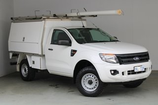 2015 Ford Ranger PX XL Hi-Rider White 6 Speed Manual Cab Chassis.