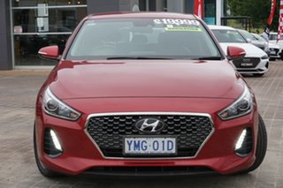2017 Hyundai i30 PD MY18 Elite D-CT Fiery Red 7 Speed Sports Automatic Dual Clutch Hatchback.