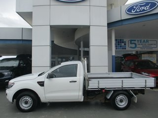 2014 Ford Ranger PX XL 2.2 (4x2) White 6 Speed Manual Cab Chassis.