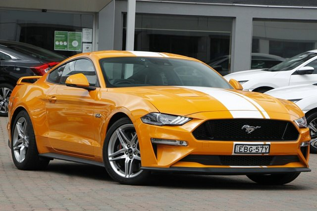 Used Ford Mustang FN 2018MY GT Fastback SelectShift Parramatta, 2018 Ford Mustang FN 2018MY GT Fastback SelectShift Orange 10 Speed Sports Automatic Fastback