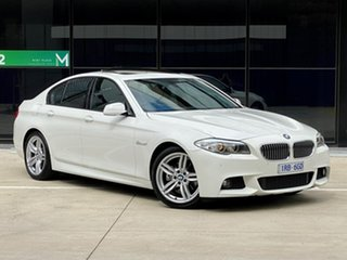 2012 BMW 5 Series F10 MY0911 520i Steptronic White 8 Speed Sports Automatic Sedan.