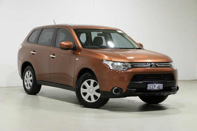 Used Mitsubishi Outlander ZJ ES (4x4) Bentley, 2013 Mitsubishi Outlander ZJ ES (4x4) Brown Continuous Variable Wagon