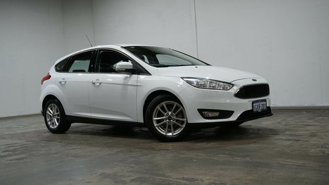 Used Ford Focus LZ Trend Welshpool, 2017 Ford Focus LZ Trend White 6 Speed Automatic Hatchback