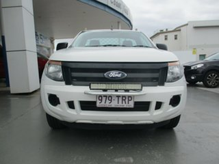 2014 Ford Ranger PX XL 2.2 (4x2) White 6 Speed Manual Cab Chassis
