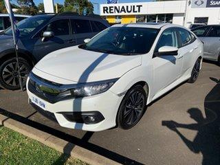 2017 Honda Civic 10th Gen MY16 VTi-LX White 1 Speed Constant Variable Sedan.