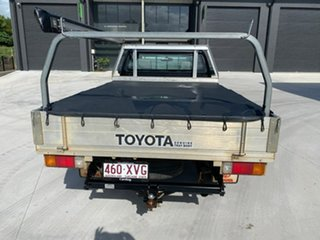 2009 Toyota Hilux TGN16R MY10 Workmate 4x2 Black 5 Speed Manual Cab Chassis