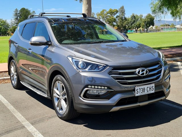 Used Hyundai Santa Fe DM3 MY16 Highlander Nailsworth, 2016 Hyundai Santa Fe DM3 MY16 Highlander Grey 6 Speed Sports Automatic Wagon