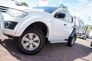 2012 Mitsubishi Triton MN MY12 GLX (4x4) White 5 Speed Manual 4x4 Double Cab Utility.