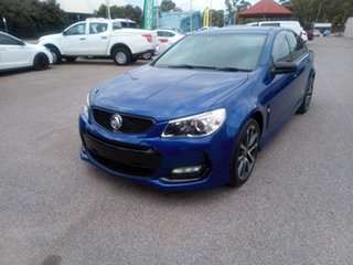 2016 Holden Commodore VF II MY16 SV6 Black Blue 6 Speed Sports Automatic Sedan