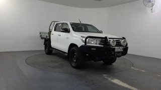 2016 Toyota Hilux GUN126R SR Double Cab White 6 Speed Manual Utility.