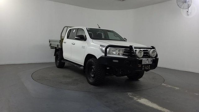Used Toyota Hilux GUN126R SR Double Cab Altona North, 2016 Toyota Hilux GUN126R SR Double Cab White 6 Speed Manual Utility