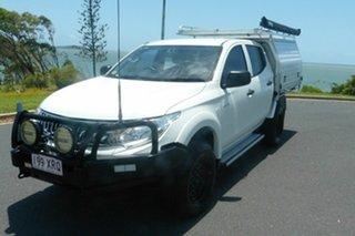 2015 Mitsubishi Triton GLX White 5 Speed Automatic Dual Cab