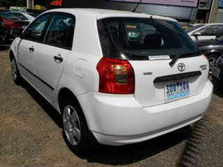 2003 Toyota Corolla ZZE122R Ascent Seca White 4 Speed Automatic Hatchback
