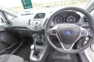 2013 Ford Fiesta WZ Ambiente White 5 Speed Manual Hatchback.
